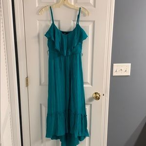 Size small teal high low dress